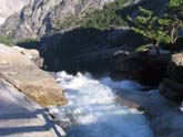 Top of Nevada Falls, on The Mist Trail