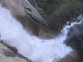 Looking Down Vernal Falls in Yosemite